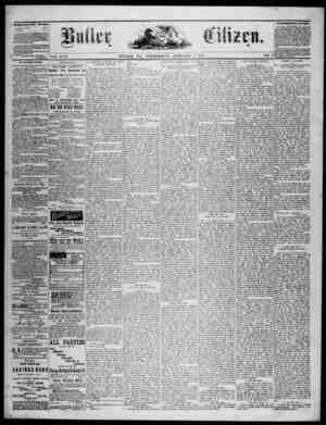 The Butler Citizen Gazetesi 7 Ocak 1880 kapağı