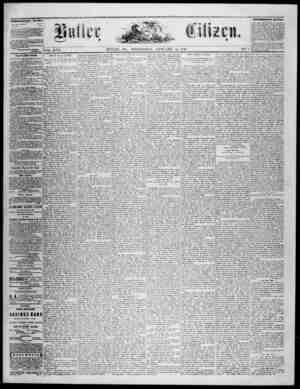 The Butler Citizen Gazetesi 14 Ocak 1880 kapağı