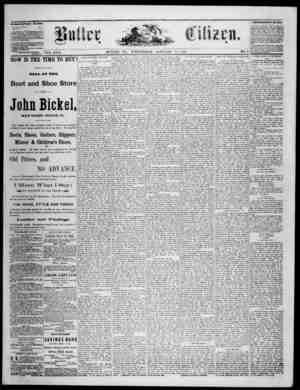 The Butler Citizen Gazetesi 21 Ocak 1880 kapağı
