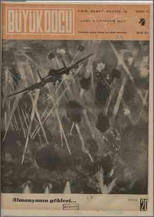 Büyük Doğu Dergisi 8 Ekim 1943 kapağı
