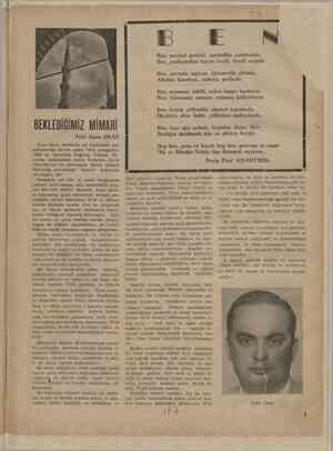 BEKLEDİĞİMİZ. MİMARİ Prof. Emin ONAT Emin Onat, Atatürke ait Anıt-kabir mü Ni birinci gelen Türk çocuğudur sanbulda doğmuş,