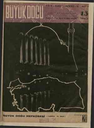 Büyük Doğu Dergisi 10 Aralık 1943 kapağı