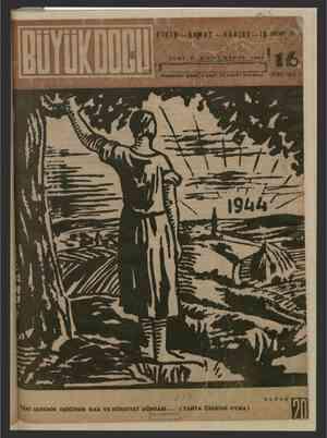 Büyük Doğu Dergisi 31 Aralık 1943 kapağı
