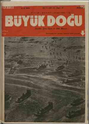 Büyük Doğu Dergisi 4 Şubat 1944 kapağı