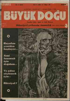 Büyük Doğu Dergisi 11 Şubat 1944 kapağı