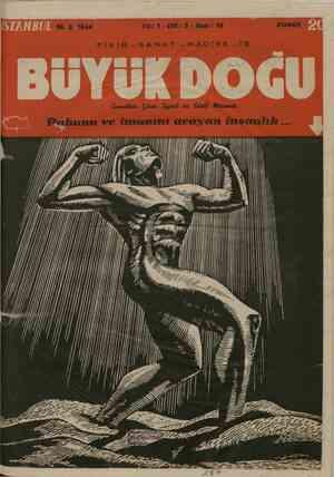Büyük Doğu Dergisi 18 Şubat 1944 kapağı