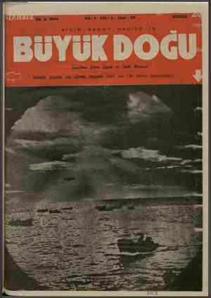Büyük Doğu Dergisi 25 Şubat 1944 kapağı