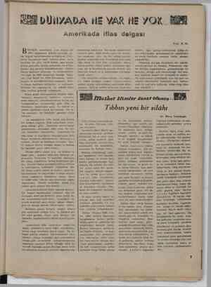 »U Amerikad a eşik Amerikada yine büyük bir -iflâs dalgasının hüküm sürdüğü, ge- len telgraf haberlerinden anlaşılıyor....