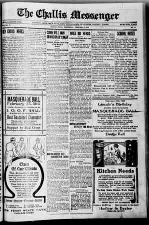 The Challis Messenger Gazetesi February 6, 1918 kapağı