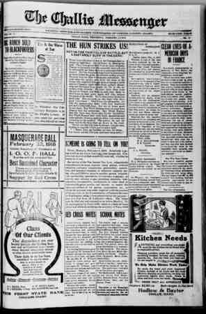 The Challis Messenger Gazetesi February 13, 1918 kapağı