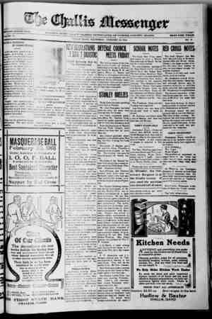 The Challis Messenger Gazetesi February 20, 1918 kapağı