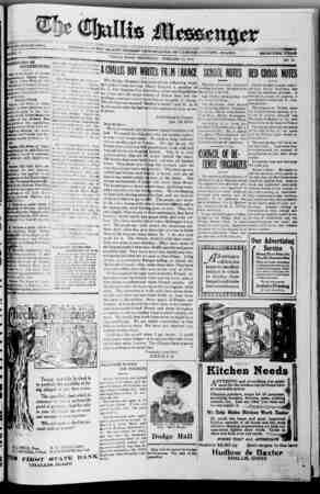 The Challis Messenger Gazetesi February 27, 1918 kapağı
