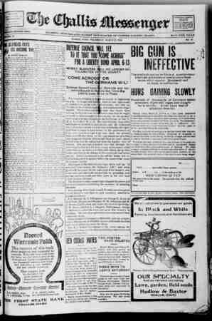 The Challis Messenger Gazetesi March 27, 1918 kapağı