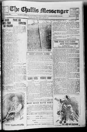 The Challis Messenger Gazetesi April 24, 1918 kapağı