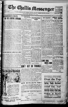 The Challis Messenger Gazetesi May 8, 1918 kapağı