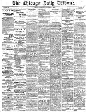 Chicago Daily Tribune Gazetesi 16 Ekim 1872 kapağı