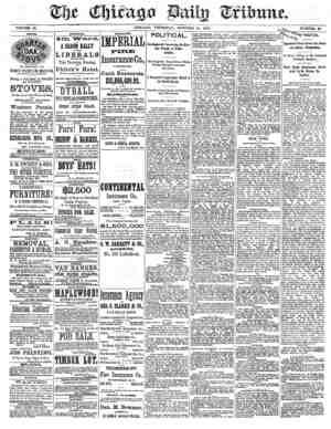 Chicago Daily Tribune Gazetesi 17 Ekim 1872 kapağı