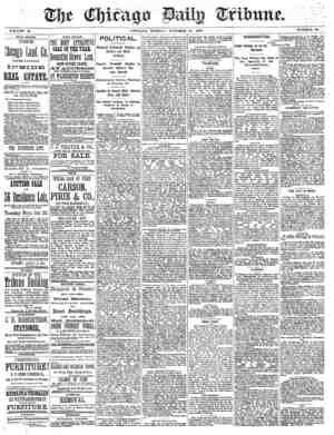 Chicago Daily Tribune Gazetesi 21 Ekim 1872 kapağı