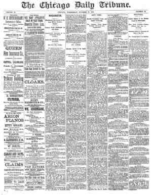 Chicago Daily Tribune Gazetesi 23 Ekim 1872 kapağı