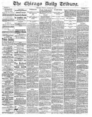 Chicago Daily Tribune Gazetesi 28 Ekim 1872 kapağı
