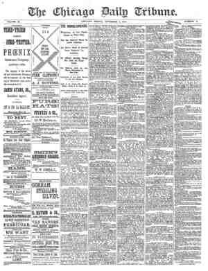 Chicago Daily Tribune Gazetesi 1 Kasım 1872 kapağı