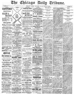 Chicago Daily Tribune Gazetesi 10 Kasım 1872 kapağı