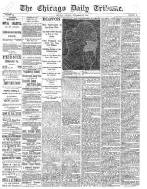 Chicago Daily Tribune Gazetesi 11 Kasım 1872 kapağı