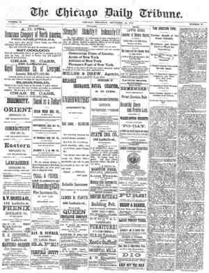 Chicago Daily Tribune Gazetesi 14 Kasım 1872 kapağı