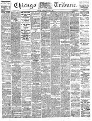 The Chicago Tribune Gazetesi 21 Ağustos 1864 kapağı