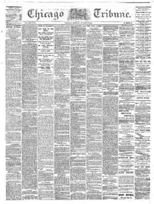 The Chicago Tribune Gazetesi 22 Ağustos 1864 kapağı