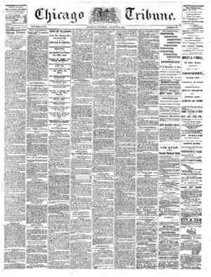The Chicago Tribune Gazetesi 23 Ağustos 1864 kapağı
