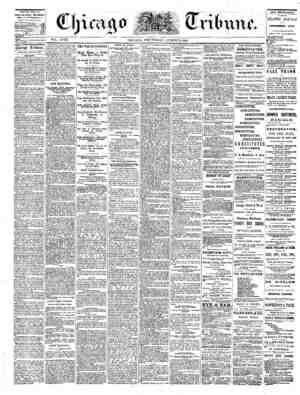 The Chicago Tribune Gazetesi 24 Ağustos 1864 kapağı