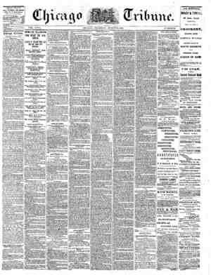 The Chicago Tribune Gazetesi 25 Ağustos 1864 kapağı