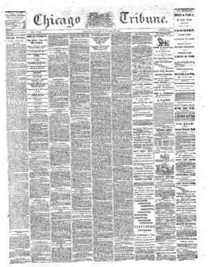 The Chicago Tribune Gazetesi 27 Ağustos 1864 kapağı