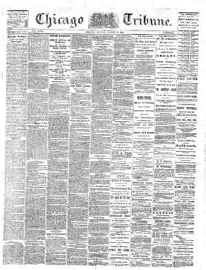 The Chicago Tribune Gazetesi 29 Ağustos 1864 kapağı