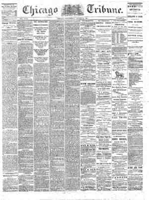 The Chicago Tribune Gazetesi 31 Ağustos 1864 kapağı