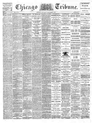 The Chicago Tribune Gazetesi 1 Eylül 1864 kapağı