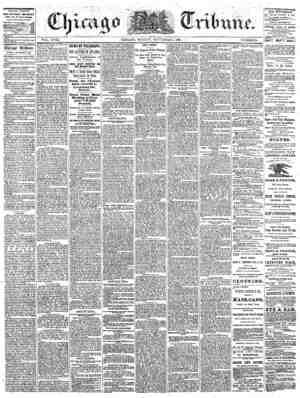 The Chicago Tribune Gazetesi 4 Eylül 1864 kapağı