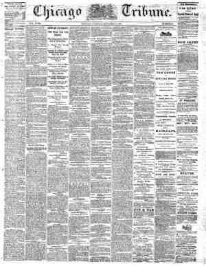The Chicago Tribune Gazetesi 6 Eylül 1864 kapağı