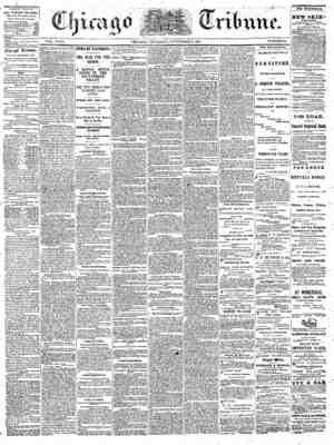 The Chicago Tribune Gazetesi 8 Eylül 1864 kapağı