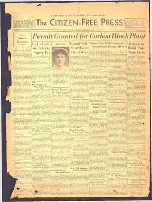 The Citizen-Free Press Gazetesi 2 Aralık 1934 kapağı