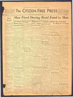 The Citizen-Free Press Gazetesi 6 Aralık 1934 kapağı
