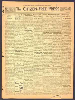 The Citizen-Free Press Gazetesi 9 Aralık 1934 kapağı