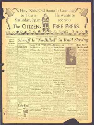 The Citizen-Free Press Gazetesi 13 Aralık 1934 kapağı