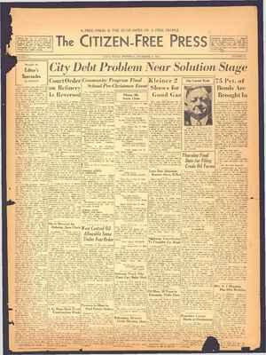 The Citizen-Free Press Gazetesi 20 Aralık 1934 kapağı
