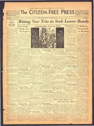 The Citizen-Free Press Gazetesi 30 Aralık 1934 kapağı