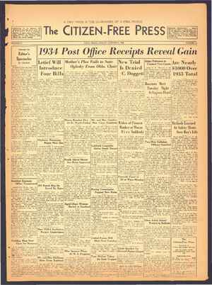 The Citizen-Free Press Gazetesi 6 Ocak 1935 kapağı
