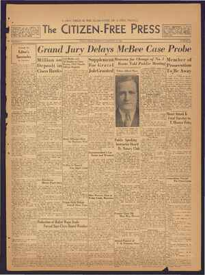 The Citizen-Free Press Gazetesi 10 Ocak 1935 kapağı