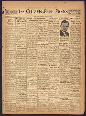 The Citizen-Free Press Gazetesi 17 Ocak 1935 kapağı