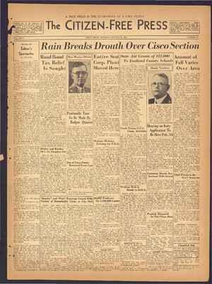 The Citizen-Free Press Gazetesi 20 Ocak 1935 kapağı